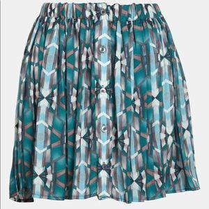 WAYF front button high waist hi-lo mini skirt